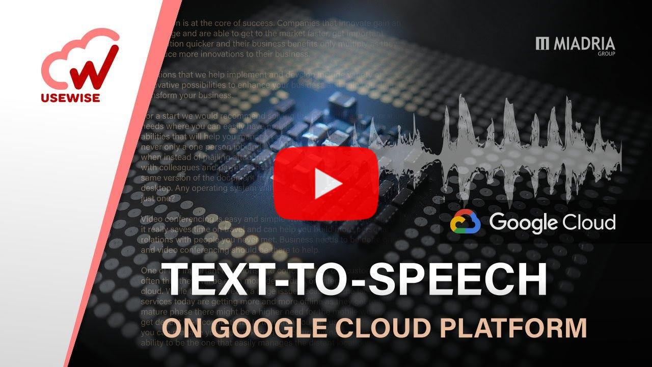 Text-to-Speech on GCP